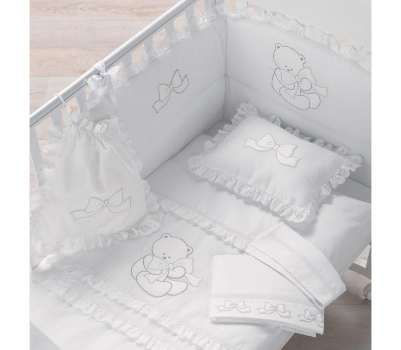 Azzurra Design corredino tessile Elegant bianco-argento