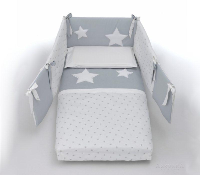 Azzurra Design piumone Glam bianco-grigio